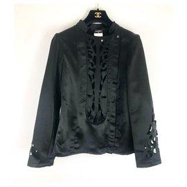 Chanel-Black Chanel openwork jacket-Black