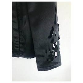 Chanel-Veste ajourée Chanel noire-Noir