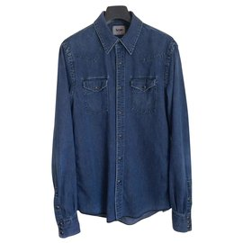 Acne-Chemise en jean-Bleu