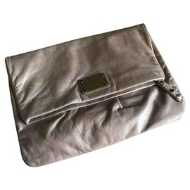 d768d2bc1d Marc by Marc Jacobs-Large fold over clutch-Taupe ...