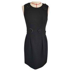 Chanel-Robe Chanel en laine-Noir