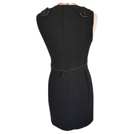 Chanel-Chanel dress in wool-Black