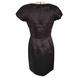 Chanel-Chanel dress in silk satin-Black