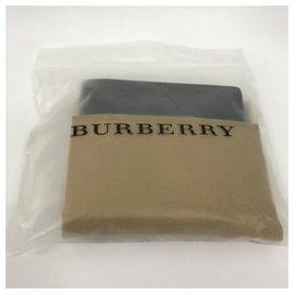Burberry-BURBERRY Portefeuille à rabat pour pièce d'identité avec motif London check-Noir,Bleu