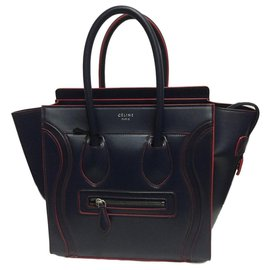 Céline-CELINE MICRO LUGGAGE NEW BLUE-Red,Blue