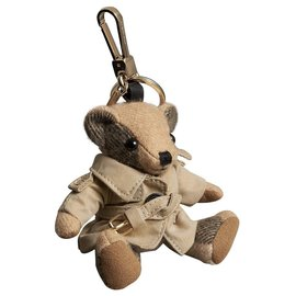 Burberry-BURBERRY, Key ring Thomas Bear with trench coat KEY RING-Beige