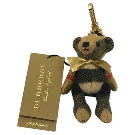 Burberry-Burberry, porte-clés burberry neuf en cachemire key ring brand new-Beige