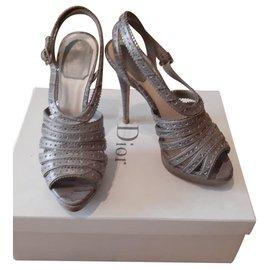 Dior-Sandales-Gris
