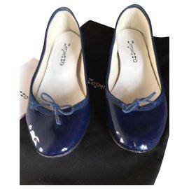 4852fd8a30 Repetto-BALLERINES CAMILLE-Bleu Marine ...