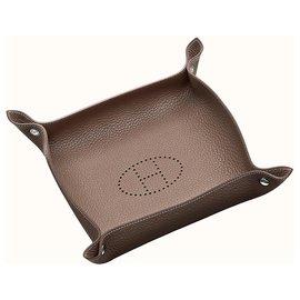 Hermès-Mises et Relances change tray-Brown