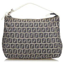 bd62cffa92f4 Fendi-Fendi Gray Zucchino Canvas Handbag-Grey ...