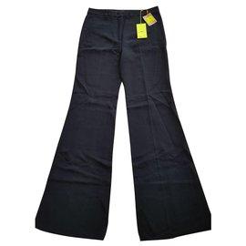 Etro-Black wide cut pants..-Black