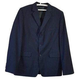 Calvin Klein-Vestes Blazers-Bleu Marine