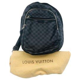 Louis Vuitton-Le sac à dos en graphite damier de michael-Marron foncé