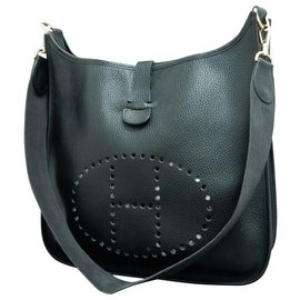 Hermès-Hermes Evelyne GM 33-Noir