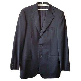 Ermenegildo Zegna-Vestes Blazers-Bleu Marine