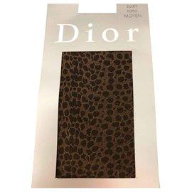 Christian Dior-Mi bas-Marron foncé