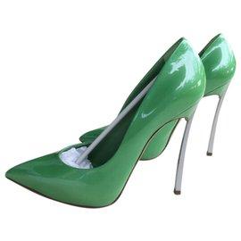 d7e2fc8fca Casadei-Casadei green patent leather pumps-Green ...
