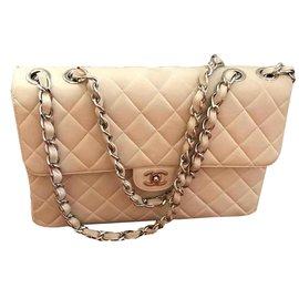 Chanel-Chanel Jumbo single flap-Beige