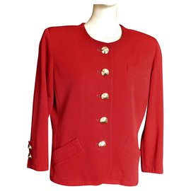 Yves Saint Laurent-Jackets-Red
