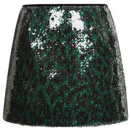 Marc Jacobs-Marc Jacobs sequinned skirt-Green