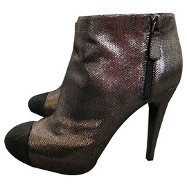 Chanel-Ankle Boots-Metallic
