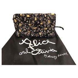 Alice + Olivia-Clutch bags-Black,Dark grey