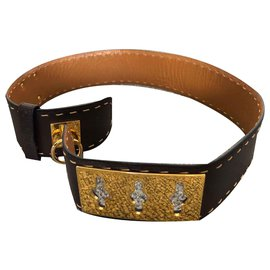 Céline-dog collar-Brown