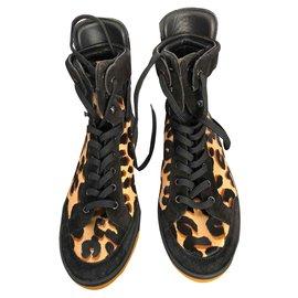 Louis Vuitton-Baskets-Imprimé léopard