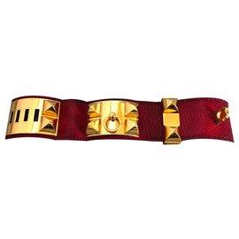 Hermès-Bracelets-Red