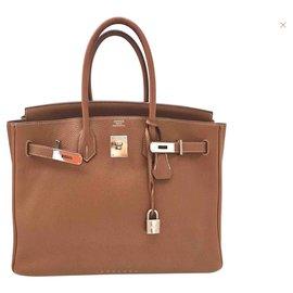 Hermès-Birkin 35-Doré