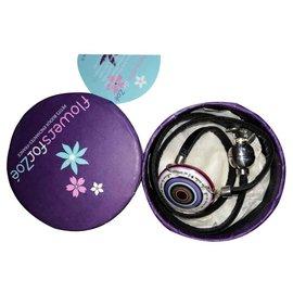 Autre Marque-Flowers for Zoé necklace with pendant-Purple