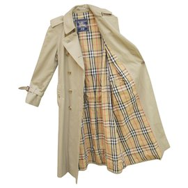 Burberry-trench Burberry vintage taille 34/36-Kaki