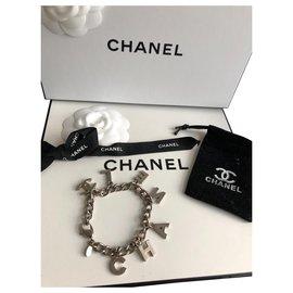 Chanel-Letter bracelet-Silvery