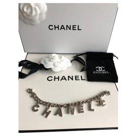 Chanel-Bracelet lettre-Argenté