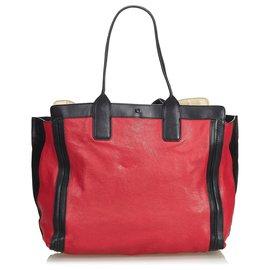 Chloé-Sac cabas Alison en cuir rouge de Chloé-Noir,Rouge