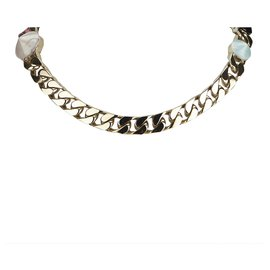 Fendi-Fendi Pink Python Necklace-Silvery,Pink