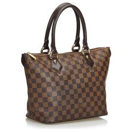 Louis Vuitton-Louis Vuitton Brown Damier Ebene Saleya MM-Marron