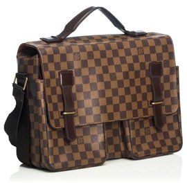 Louis Vuitton-Louis Vuitton Brown Damier Ebene Broadway-Braun