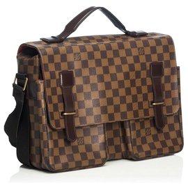 Louis Vuitton-Louis Vuitton Brown Damier Ebene Broadway-Marron