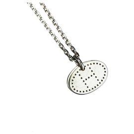 Hermès-Collier pendentif éclipsé argent Hermès-Argenté