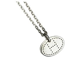 Hermès-Hermes Silver Silver Eclipse Pendant Necklace-Silvery