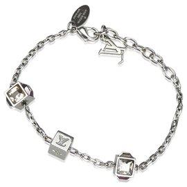 Louis Vuitton-Bracelet Louis Vuitton en cristal de jeu d'argent-Argenté,Rose