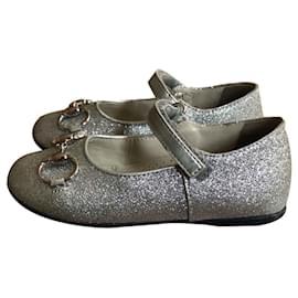 Gucci-Ballerinas-Silber