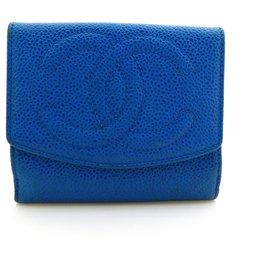 Chanel-Bourses, portefeuilles, cas-Bleu