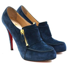 Christian Louboutin-Bottines-Bleu