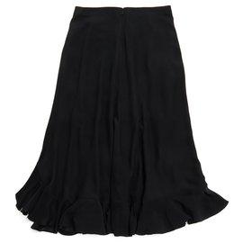 Chloé-MAXI BLACK SILK FR38 NEW-Black