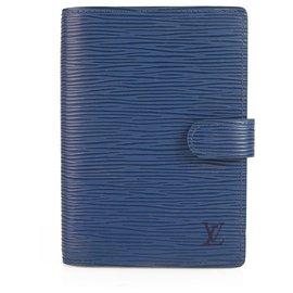 Louis Vuitton-Louis Vuitton Petit Agenda Agenda Bleu Epi PM Agenda-Bleu