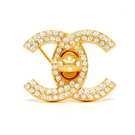 Chanel-MEDIUM CC GOLDEN RHINESTONE-Golden