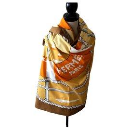 Hermès-paréo-Orange